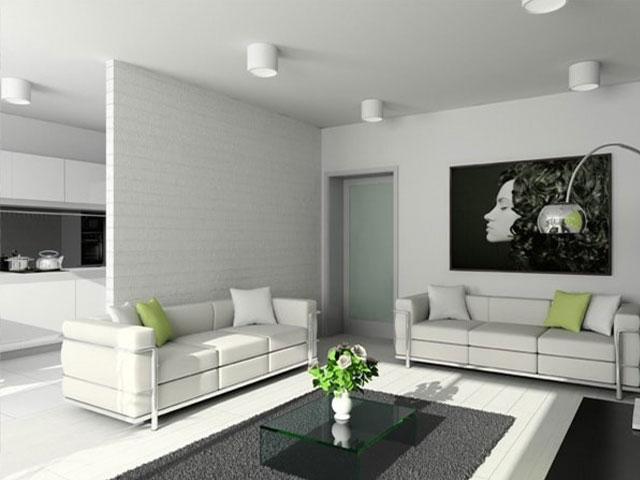 Các kiểu vách ngăn phòng khách và bếp bằng thạch cao