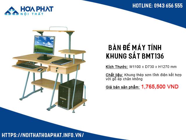 bàn để máy tính nhỏ gọn giá rẻ BMT136