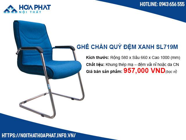 Ghế chân quỳ đệm xanh Hòa Phát SL719M