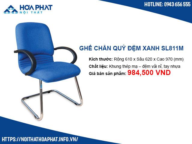 Ghế chân quỳ đệm xanh Hòa Phát SL811M