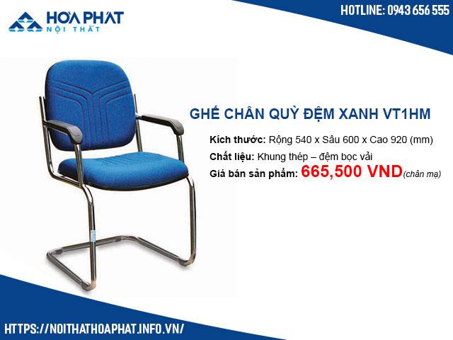 Ghế chân quỳ đệm xanh Hòa Phát VT1HM