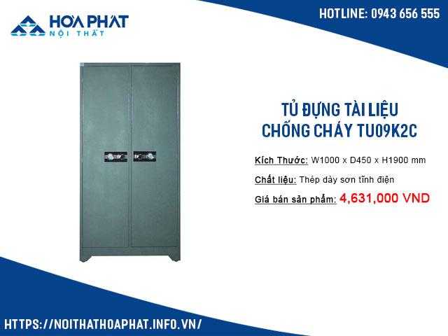 Tủ đựng tài liệu chống cháy TU09K2C