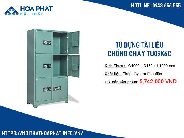 Tủ đựng tài liệu chống cháy TU09K6C
