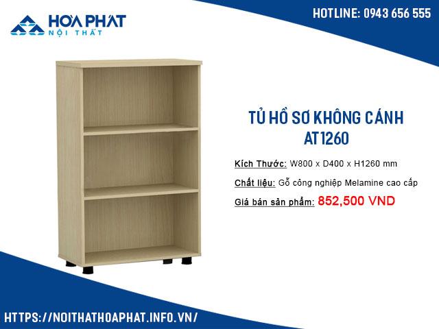 tủ hồ sơ không cánh hòa phát AT1260