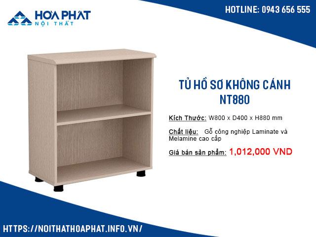 tủ hồ sơ không cánh hòa phát NT880
