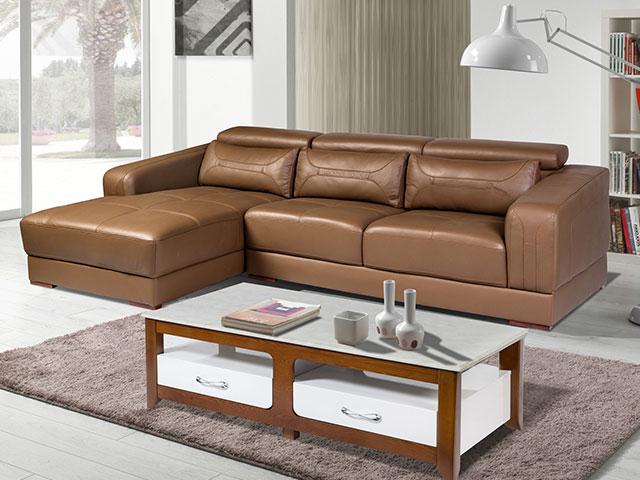 Sofa da giá rẻ SF107A