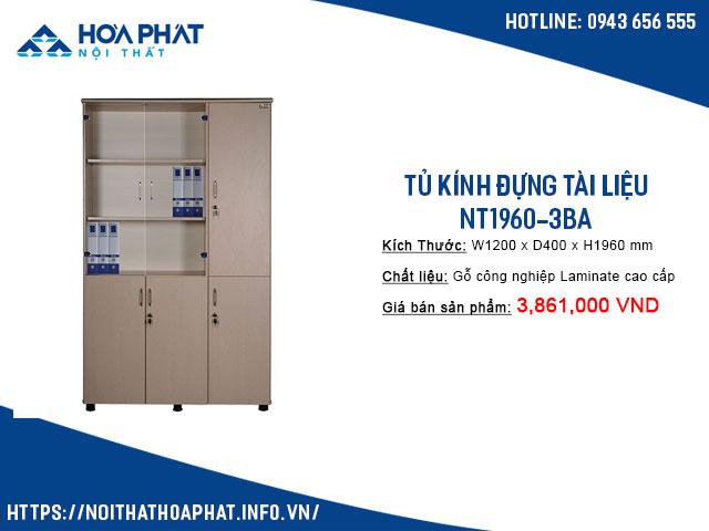 tủ kính đựng tài liệu NT1960-3BA