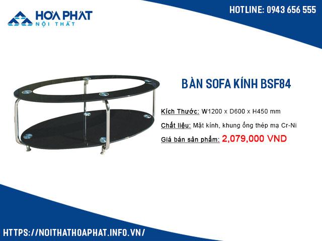 Bàn trà kính cường lực BSF84