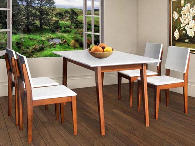 kích thước bàn ăn 4 người HGB63B-HGG63