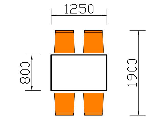 kích thước bàn ăn 4 người hình chữ nhật