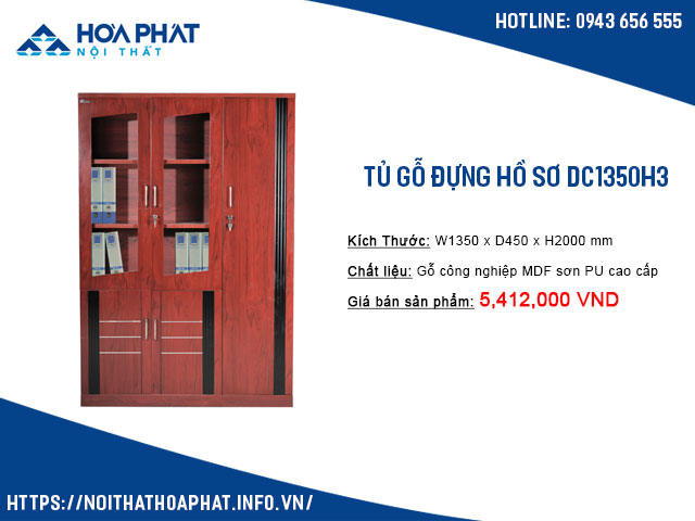 Tủ treo quần áo văn phòng DC1350H3