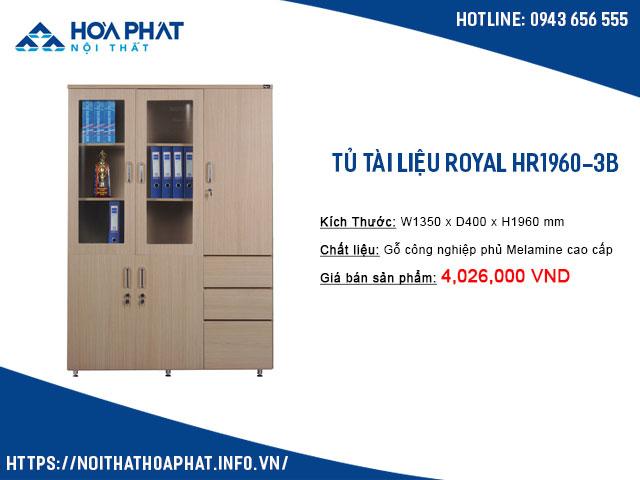 Tủ treo quần áo văn phòng HR1960-3B