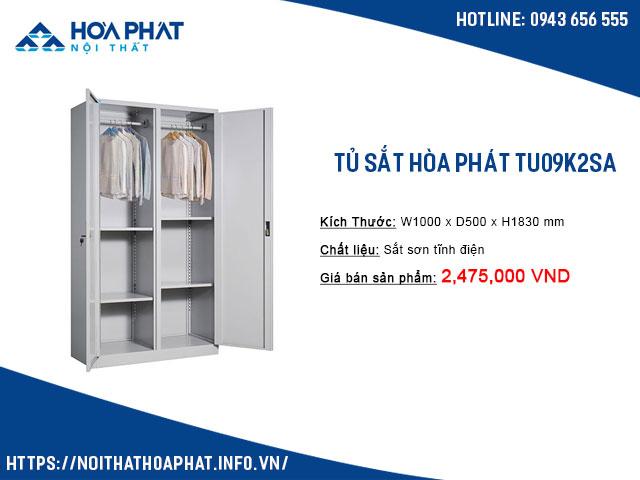 Tủ treo quần áo văn phòng TU09K2SA