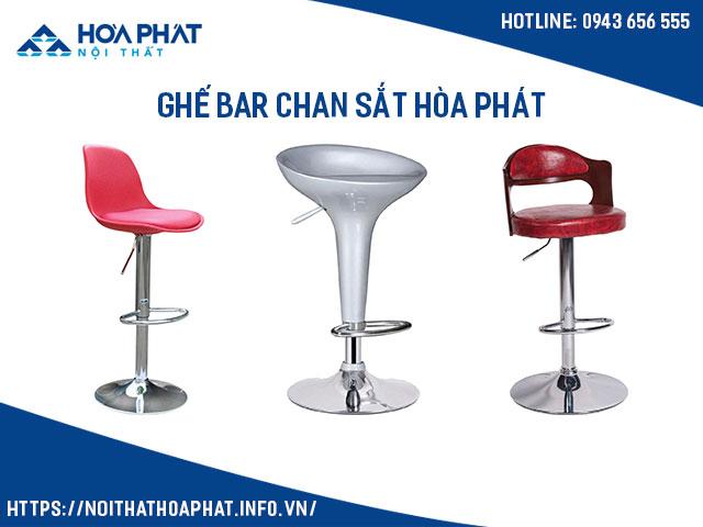 ghế bar chân sắt hòa phát