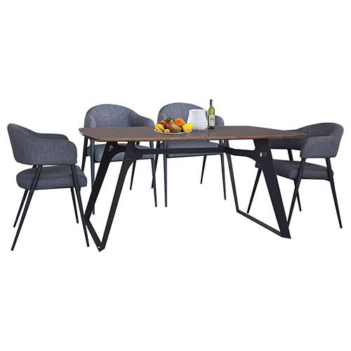 Bộ bàn ăn hiện đại B64-G64