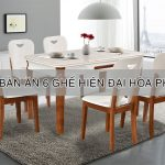 bộ bàn ăn 6 ghế hiện đại