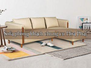Sofa phòng khách chung cư Hòa Phát