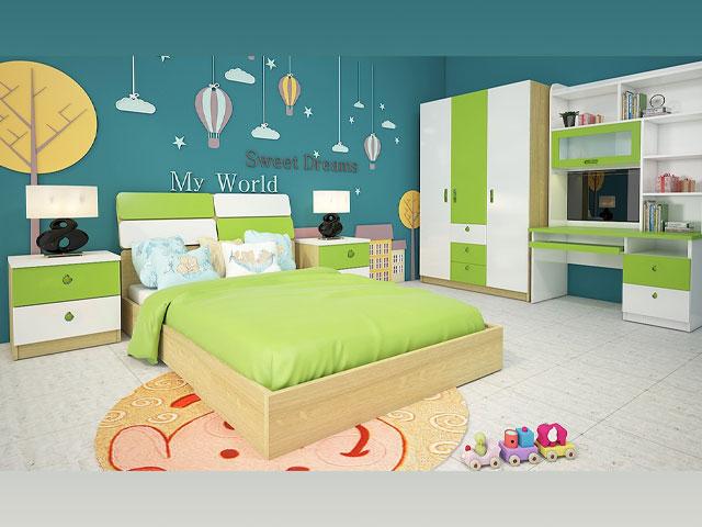 bộ giường ngủ giá rẻ trẻ em 301