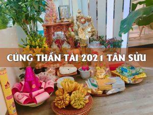 Cúng Thần Tài 2021 Tân Sửu