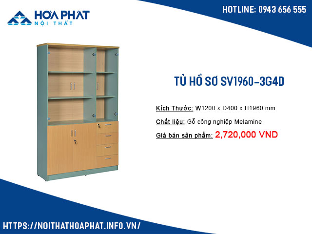 tủ hòa phát SV1960-3G4D