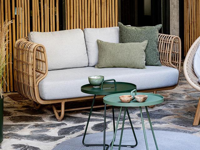 ghế sofa phòng khách bằng tre