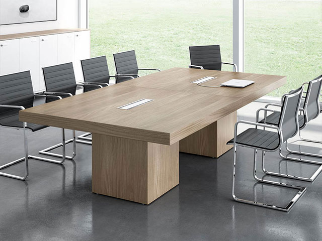 bàn họp gỗ tự nhiên