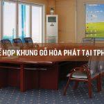 Ghế họp khung gỗ Hòa Phát