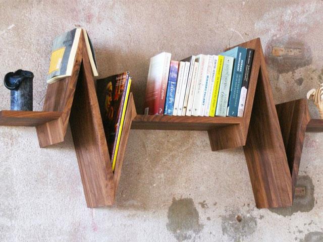 giá sách gỗ sáng tạo