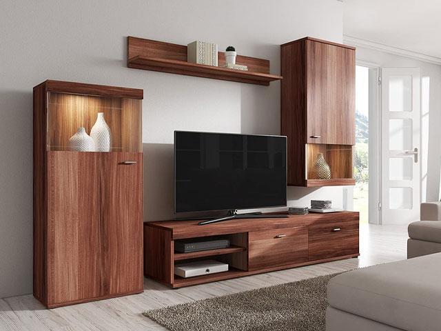 bộ tủ tivi gỗ tự nhiên