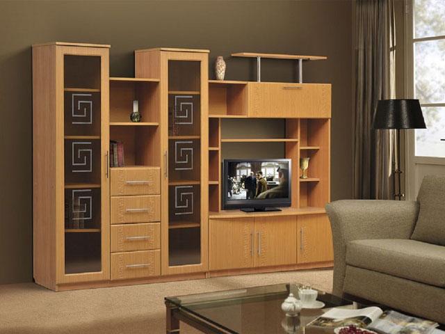 tủ gỗ phòng khách cổ điển
