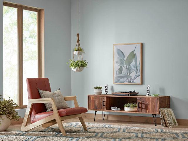 tủ tường bằng gỗ phòng khách