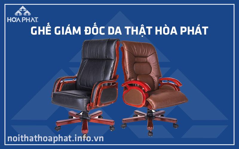 Ghế giám đốc da thật Hòa Phát