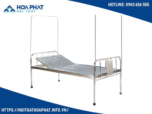 giường y tế Inox nâng đầu